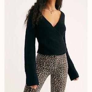"NWT Free People ""Sensual Wrap Sweater"" sweater M"